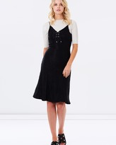 Evelyn Lace-Up Dress