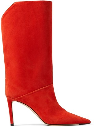Jimmy Choo Goat-Suede 85mm Slip-On Boots