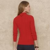 Ralph Lauren Blue Label Cable-Knit Wool Turtleneck