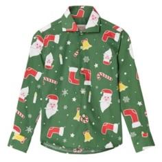 OppoSuits Toddler Boys Santa boss Christmas Shirt