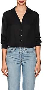 L'Agence Women's Nina Silk Georgette Blouse - Black