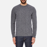 Barbour Heritage Barnard Cable Knitted Jumper Denim Mix