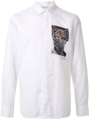 Neil Barrett photo print button-up shirt