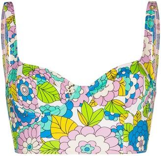 Dodo Bar Or Willie floral print bikini top