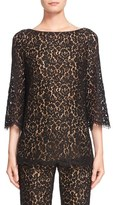 Michael Kors Women's Boatneck Floral Lace Top