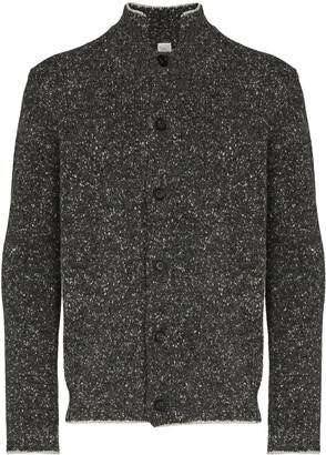 Eleventy High-Neck Buttoned Cardigan