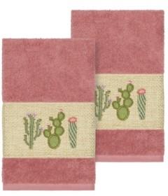 Linum Home Mila 2-Pc. Embroidered Turkish Cotton Hand Towel Set Bedding