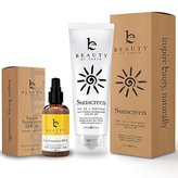 Sunscreen Kit - Facial Cream with SPF and Sunblock Bundle - With Organic and Natural Ingredients to Provide Sun Protection for Face and Body. Best for Preventing Signs of Early Aging and Sun Damage
