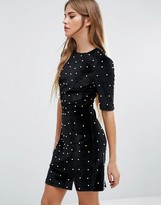 Fashion Union Pearl Embellished Dress