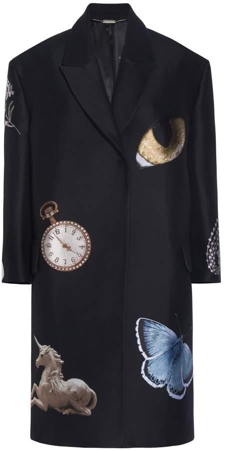 Alexander McQueen Oversized Embroidered Coat