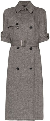 we11done Short Sleeve Belted Trench Coat
