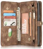 INFLATION Galaxy leather wallet phone case magnetic detachable Card Slots