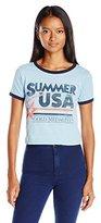 Freeze Juniors Summer USA Ringer Graphic Tee