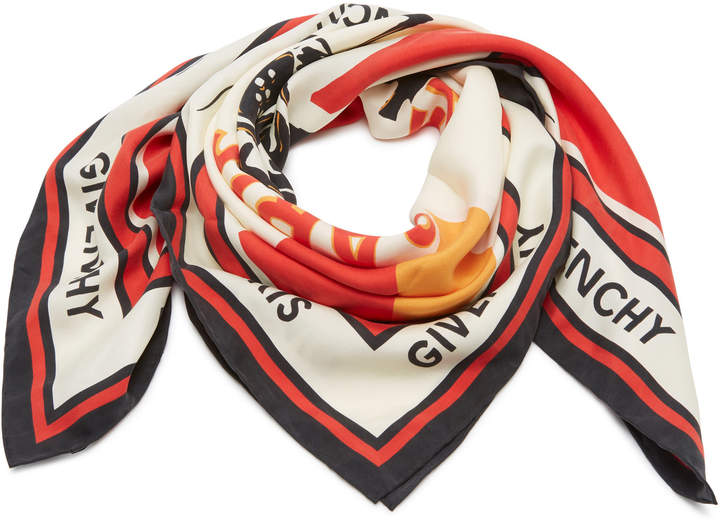 Givenchy Catwings Silk Scarf