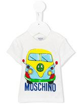 Moschino Kids - van print T-shirt - kids - Cotton - 6 mth