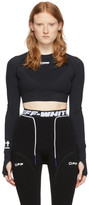 Off-White Off White Black Active Cropped T-Shirt