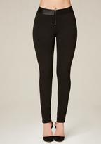 Bebe Front Zip Leggings