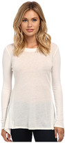 Sam Edelman Nora Shark Tail Hem Long Sleeve Tee