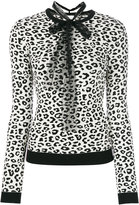 RED Valentino leopard print knitted sweater - women - Polyamide/Polyester/Viscose - XS