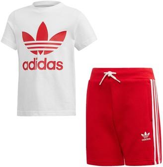 adidas Short T-shirt Set - White/Red