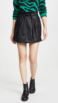 Free People Faux Leather Payton Paperbag Miniskirt