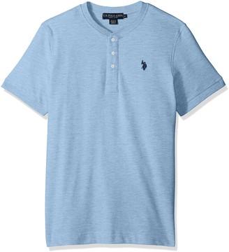 U.S. Polo Assn. Men's Short Sleeve Henley Solid T-Shirt