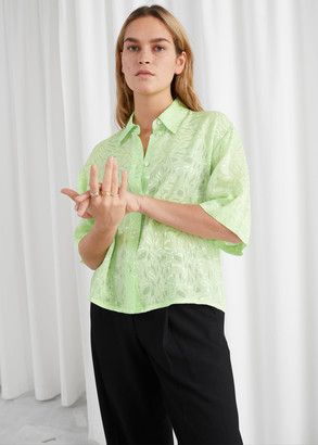 And other stories Relaxed Marble Jacquard Blouse