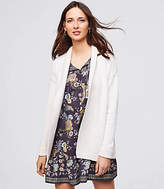 LOFT Belted Rib Trim Pocket Cardigan
