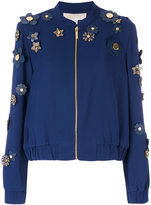 Michael Kors flower embellished bomber jacket