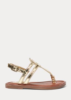 Ralph Lauren Tierney Metallic Sandal