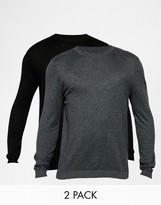 Asos 2 Pack Crew Neck Sweater in Cotton