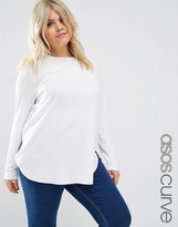Asos Tunic Top With Side Splits And Curve Hem