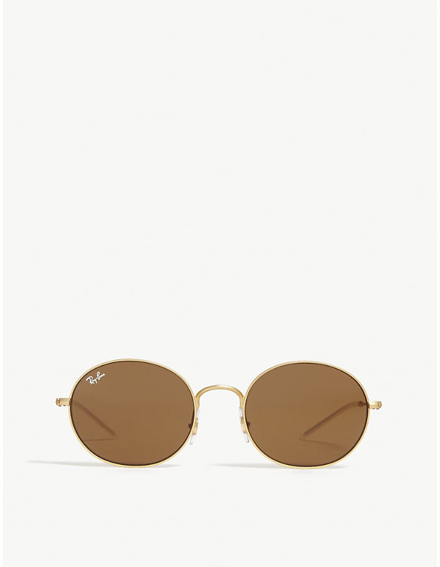 6bef5afd7c66d Ray-ban Round Metal Sunglasses In Gold - ShopStyle