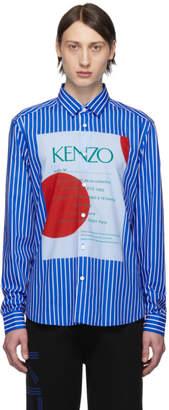 Kenzo Blue Striped Wedding Invitation Shirt