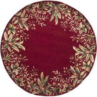 "Bay Isle Home Marion Ruby Tropical Border Area Rug Rug Size: Rectangle 5'3"" x 8'3"""