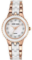 Anne Klein Women's Rosetone White Ceramic Watch