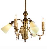 Rejuvenation Art Nouveau 6-Light Chandelier