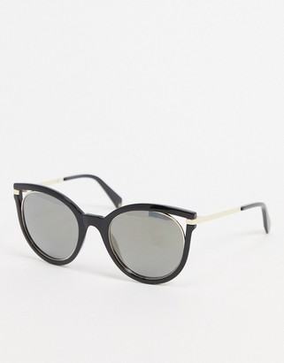 Polaroid cat-eye sunglasses in black