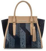 Brahmin Priscilla Patchwork Leather Satchel
