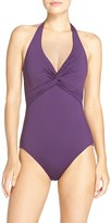 Tommy Bahama Women's 'Pearl' Halter One-Piece Swimsuit