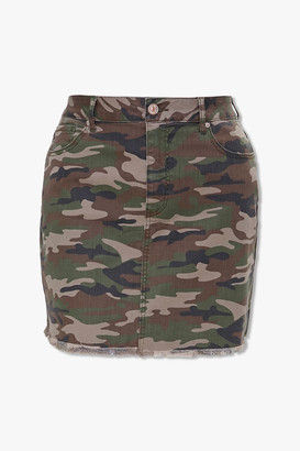 Forever 21 Plus Size Camo Print Skirt