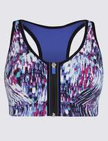 Marks and Spencer Post Surgery Extra High Impact Zip Front Non-Wired Sports Bra A-G
