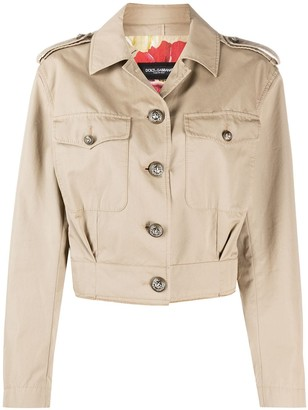 Dolce & Gabbana Button-Up Cropped Jacket