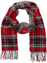 Joe Fresh Fringe Plaid Scarf