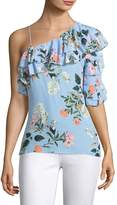Parker Women's Clayton One-Shoulder Silk Blouse