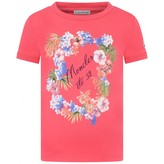Moncler MonclerGirls Fuchsia Floral Print Top