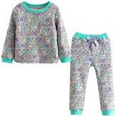 Mud Kingdom Toddler Girls Christmas Warm Pajamas 2pcs Outfits Leisure Wear Sets 5T