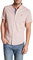 Original Penguin Short Sleeve Slim Fit Button-Down Collar Shirt