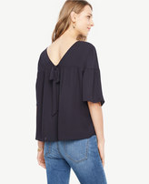 Ann Taylor Petite Bow Back Popover