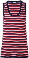 P.A.R.O.S.H. striped tank top - women - Silk/Cashmere - XS